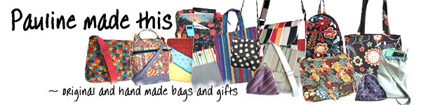 pauline made this - handmade bags and gifts